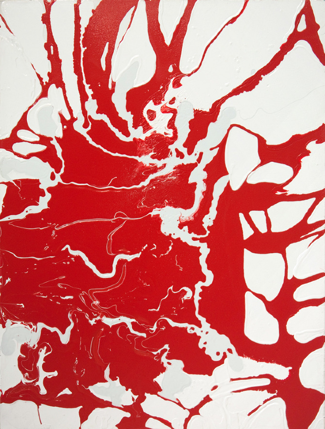Red White, Lines | Lindsey Nobel | whiteboxcontemporary.com