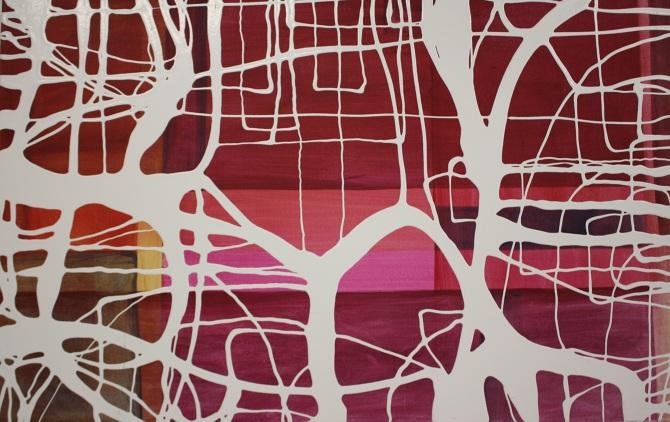 """Liquidline Trapped Landscape Fushia"", 2013"