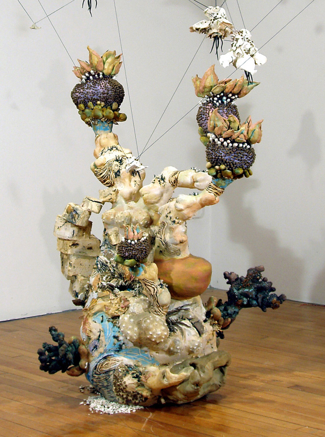 """Flight"", 51"" x 34"" x 34"", ceramic, bronze and mixed media"