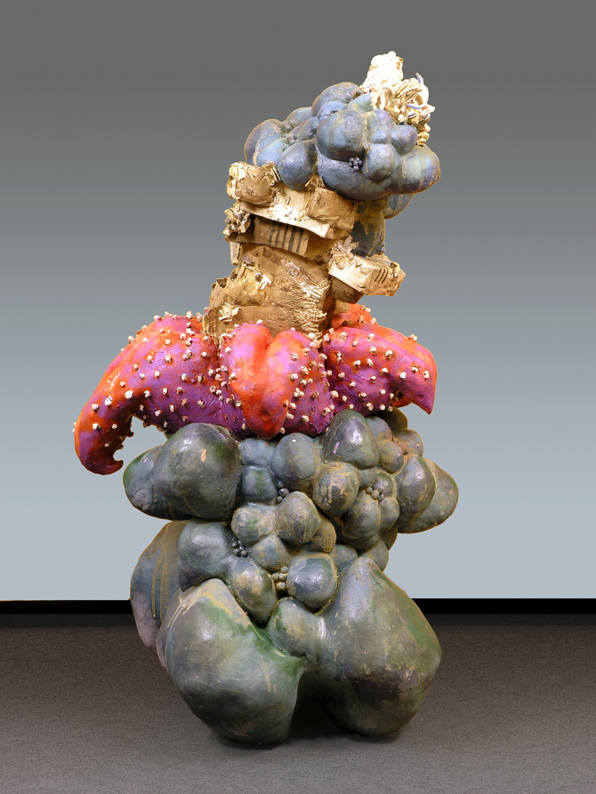 """""""In Unchartered Waters""""   45 x 24 x 22   Ceramic Mixed Media"""