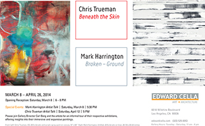 Chris Trueman   now represented in LA by   Edward Cella Art + Architecture