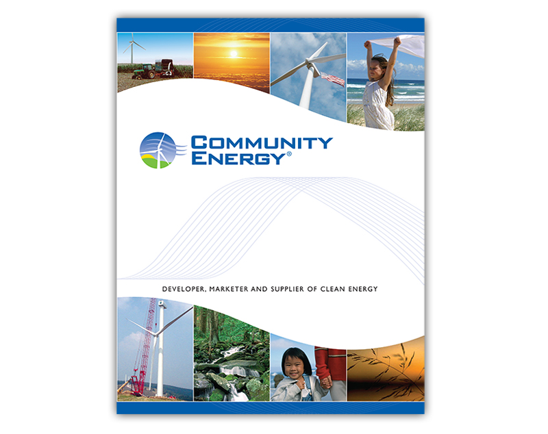 Community Energy A provider of clean energy solutions to the Delaware Valley.  9 x 12 marketing folder.