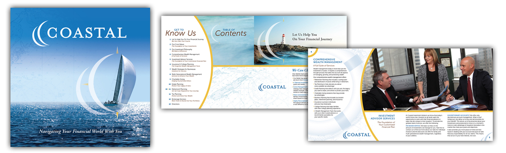 Coastal Equities Corporate Brochure. 8.5 x 8.5 inches (Click thumbnails below for larger images)