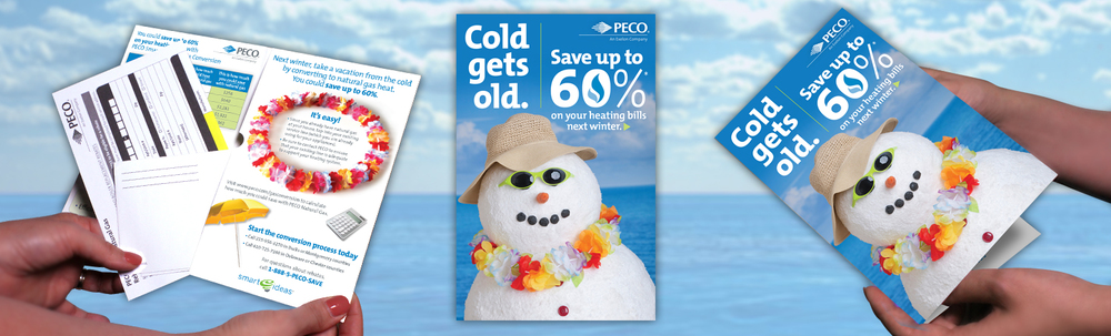 PECO Gas Conversion Direct Mail (Click thumbnails below for larger images)
