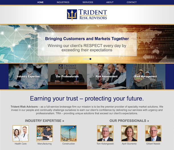Trident Risk Advisors    (Click icon above to visit live website)