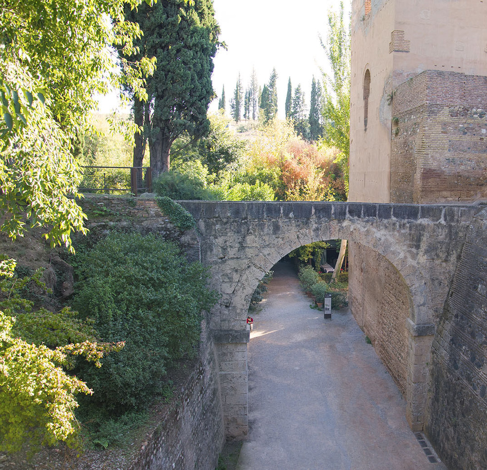 Bridge connecting the Alhambra with the Generalife, 14th Century, Granada