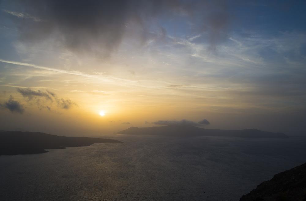 Sunset from Fira, Santorini