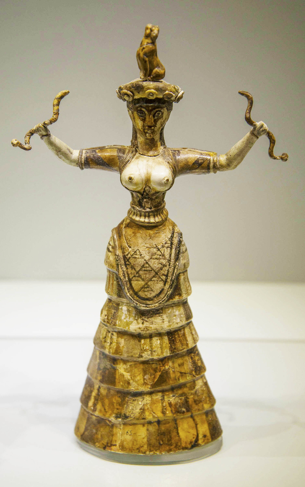 Minoan Snake Goddess, 16th Century BC, Heraklion