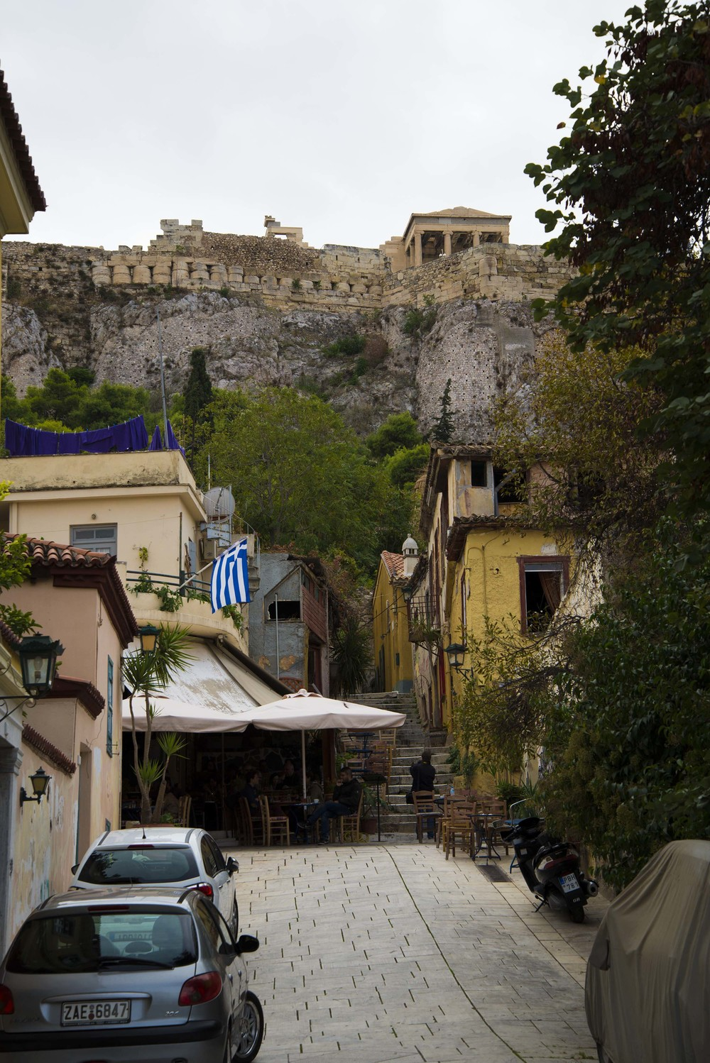 View of the Acropolis from Klepsidras, 2014, Athens