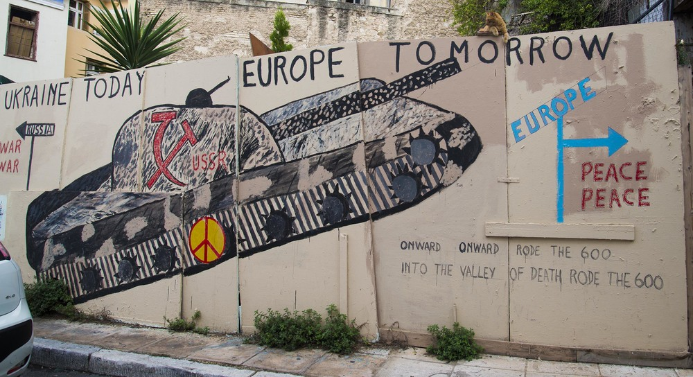 Political graffiti, 2014, Athens
