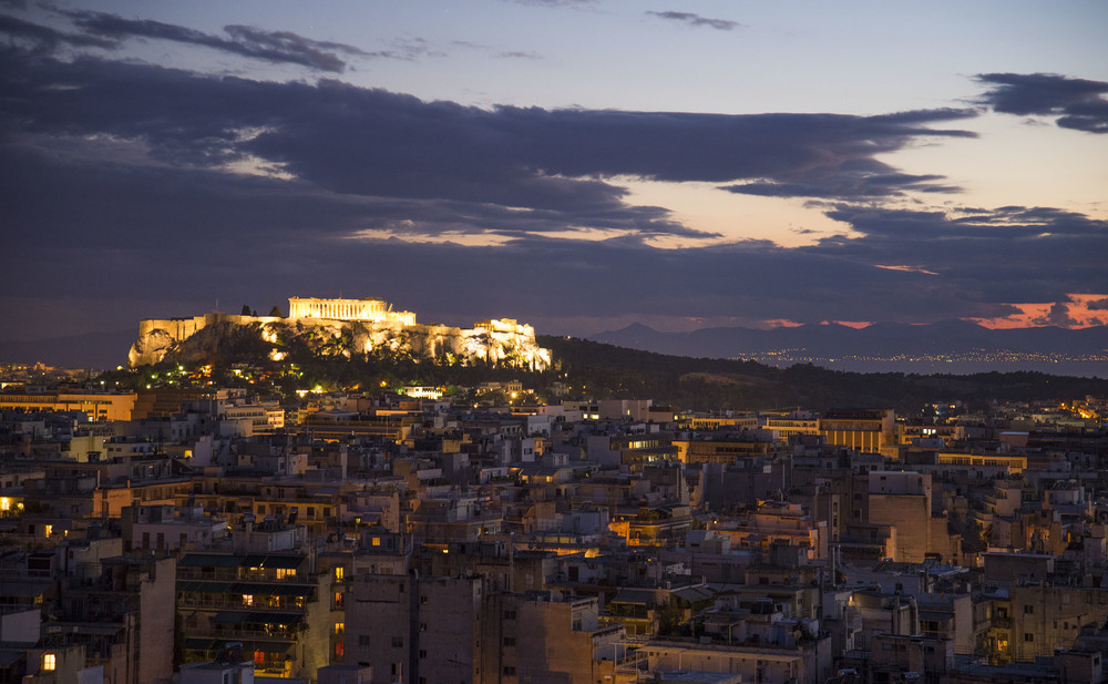 View of the Acropolis from Strefi hill, 2014, Athens