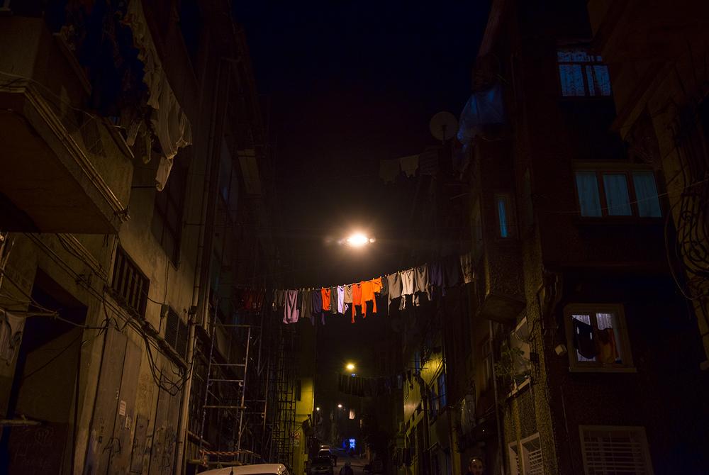 Clothesline, Usturumca Sokak in Balat, Istanbul