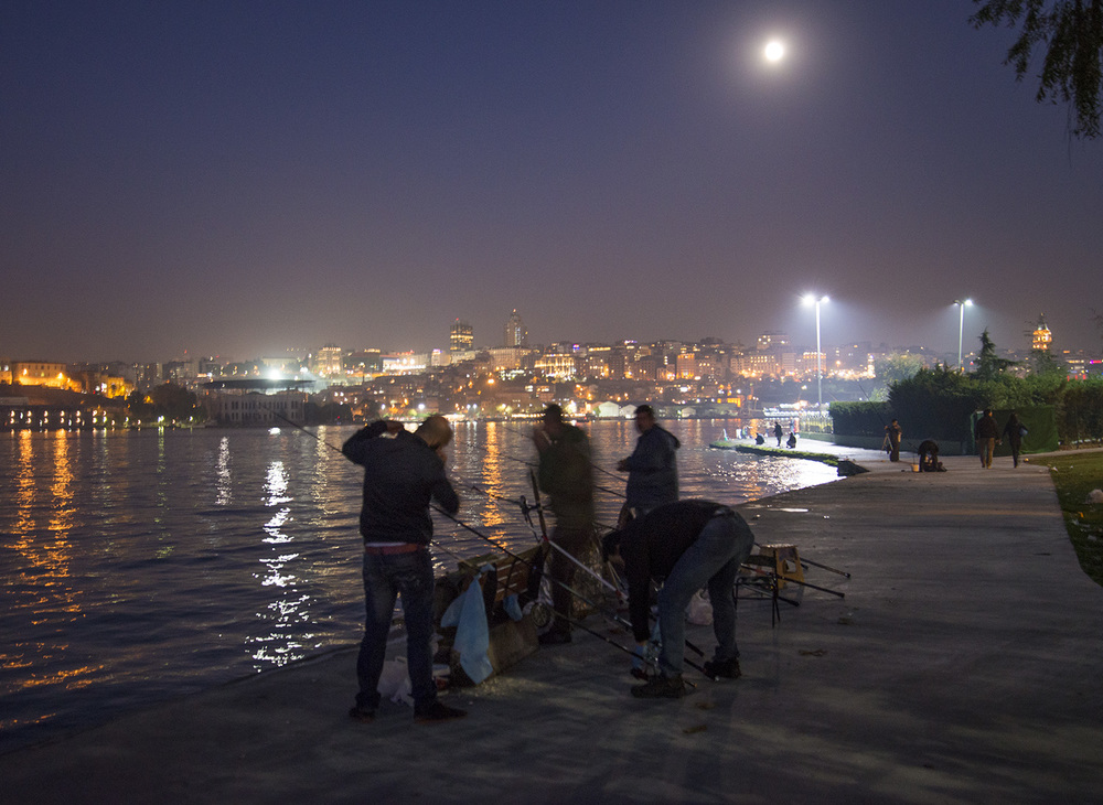FIshermen on the Golden Horn, Istanbul