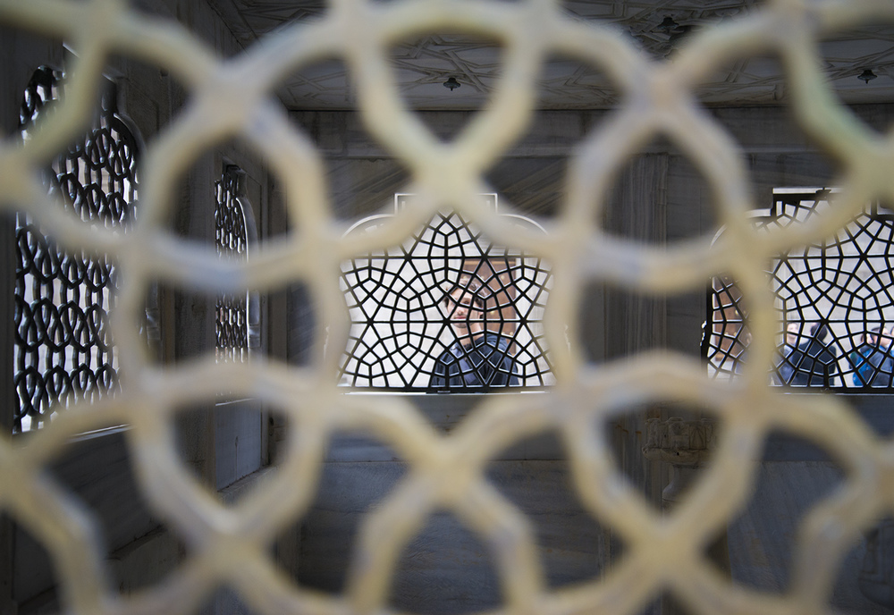 Michael through magreb at the Süleymaniye Camii, Istanbul