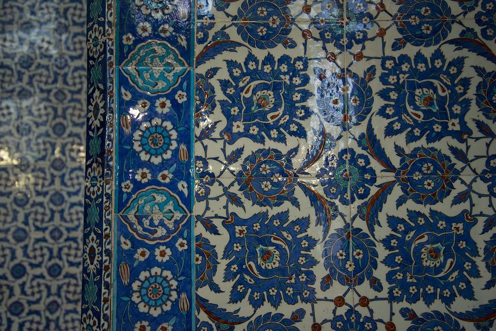 Iznik tiles,Rüstem Paşa Camii, Mimiar Sinan, 16th Century, Istanbul