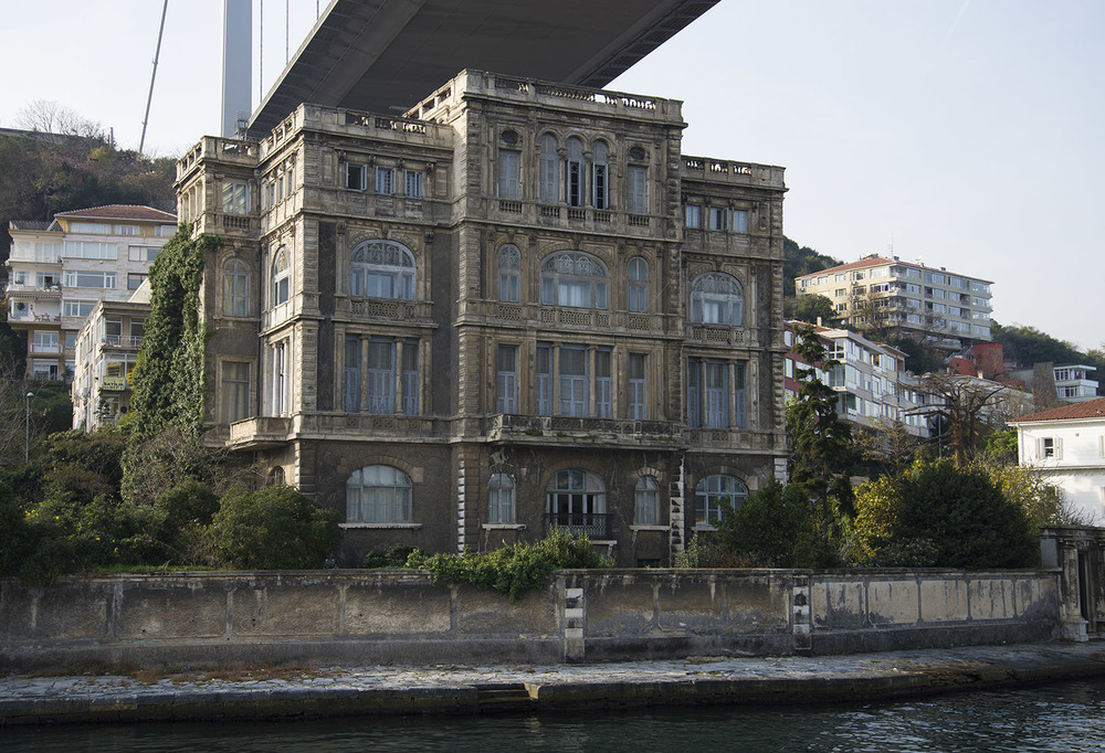 Mansion under Bosphorous bridge, Istanbul