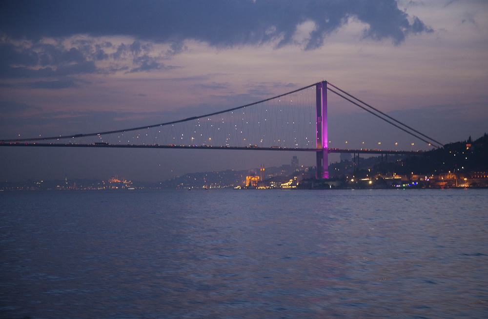 Bosphorous bridge at twilight, Istanbul