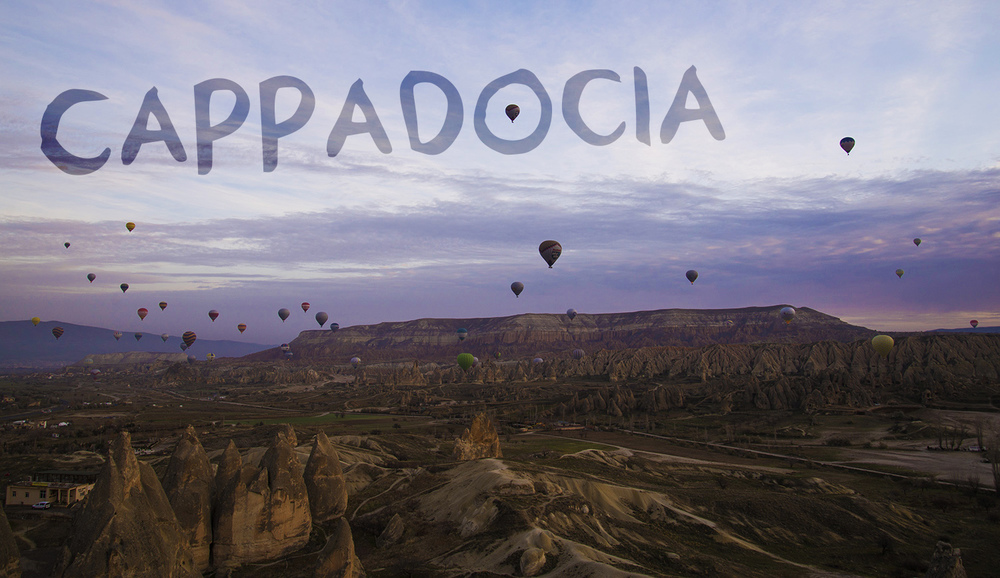 Balloons at sunrise, Göreme