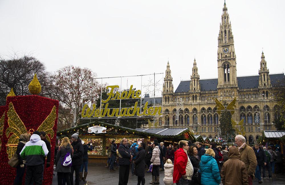 Weinachtsmarkt, Rathausplatz, Vienna