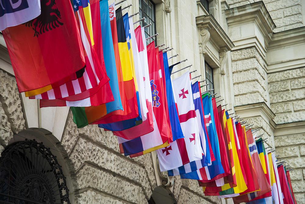 Flags of the world,Nueu Burg, Gottfried Semper,1881 - 1913, Vienna