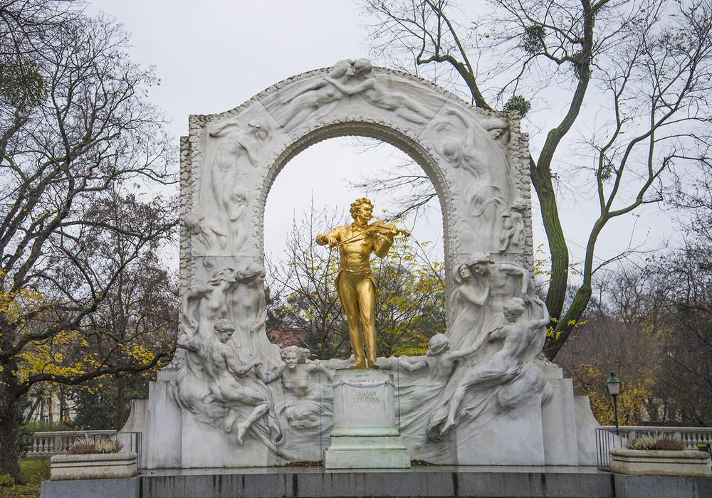 Johann Strauß II Monument, Edmund Hellmer, 1921, Statdpark, Vienna