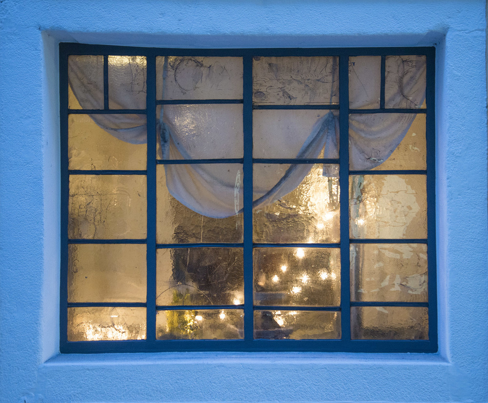 Restaurant window, Passau