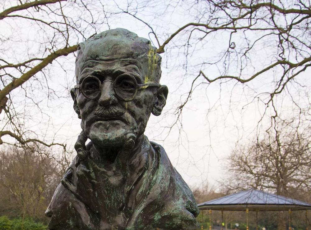 James Joyce bust, St. Stephen's Green, Dublin