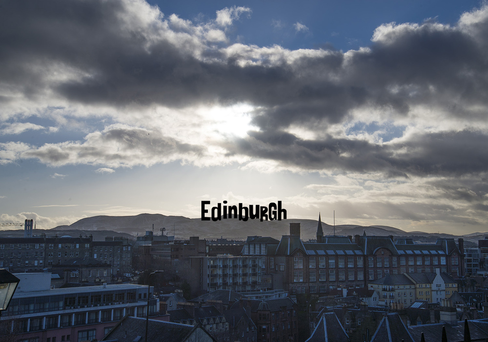Edinburgh city view.