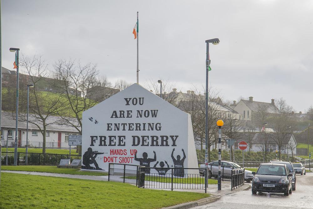 Free Derry, Bogside neighborhood, Derry, Northern Ireland