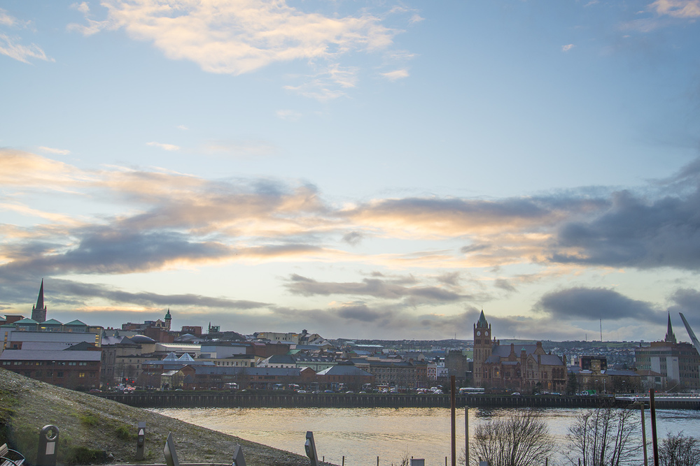 Cityscape of Derry, Northern Ireland
