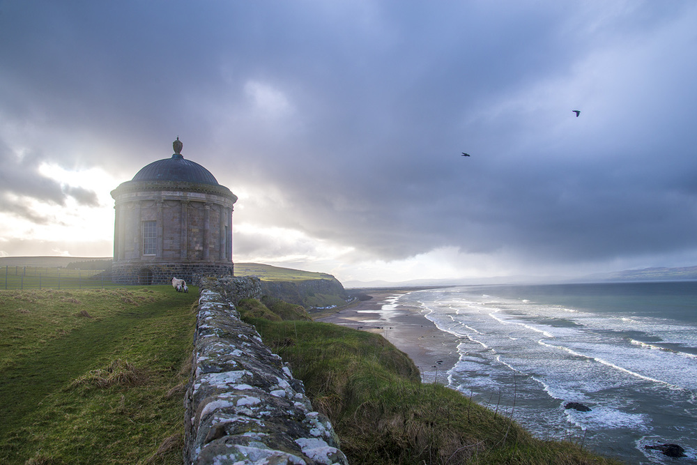 Mussenden Temple, Frederick Hervey, 4th Earl of Bristol, 1785, Downhill Strand,County Londonderry, Northern Ireland