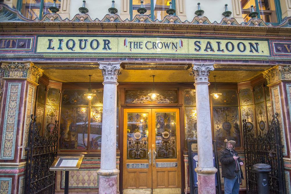 The Crown Liquor Saloon, Michael Flanagan, 1885, Belfast Northern Ireland