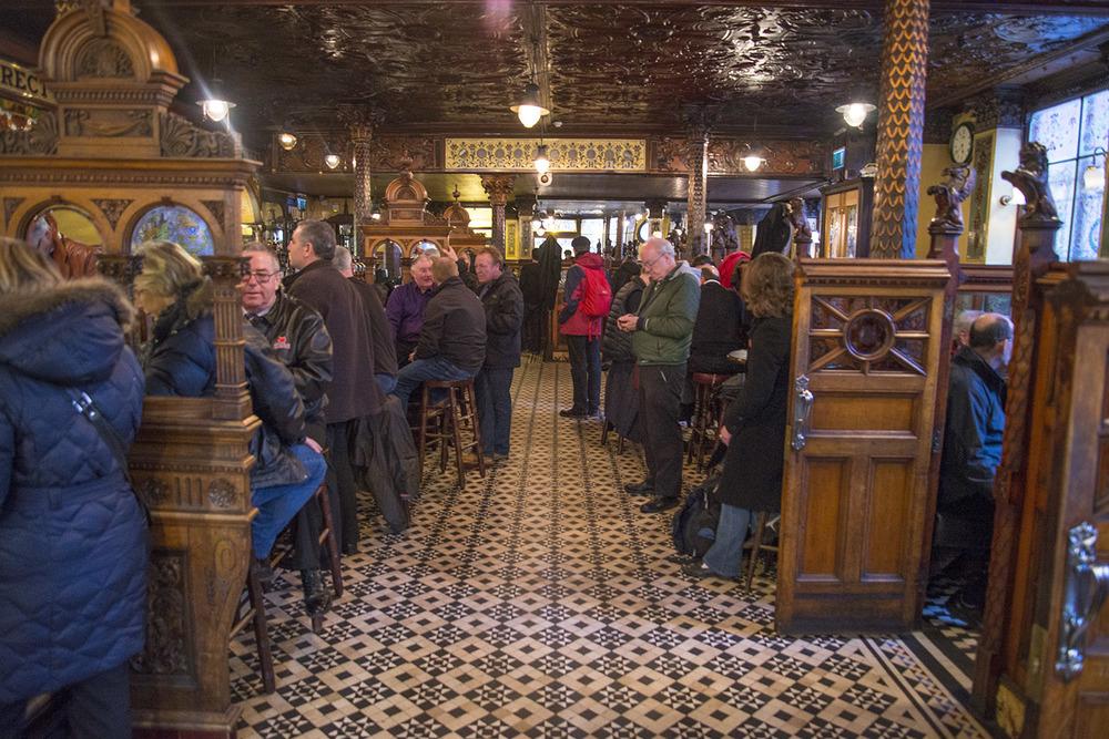 The Crown Liquor Saloon Interior, Michael Flanagan, 1885, Belfast, Northern Ireland