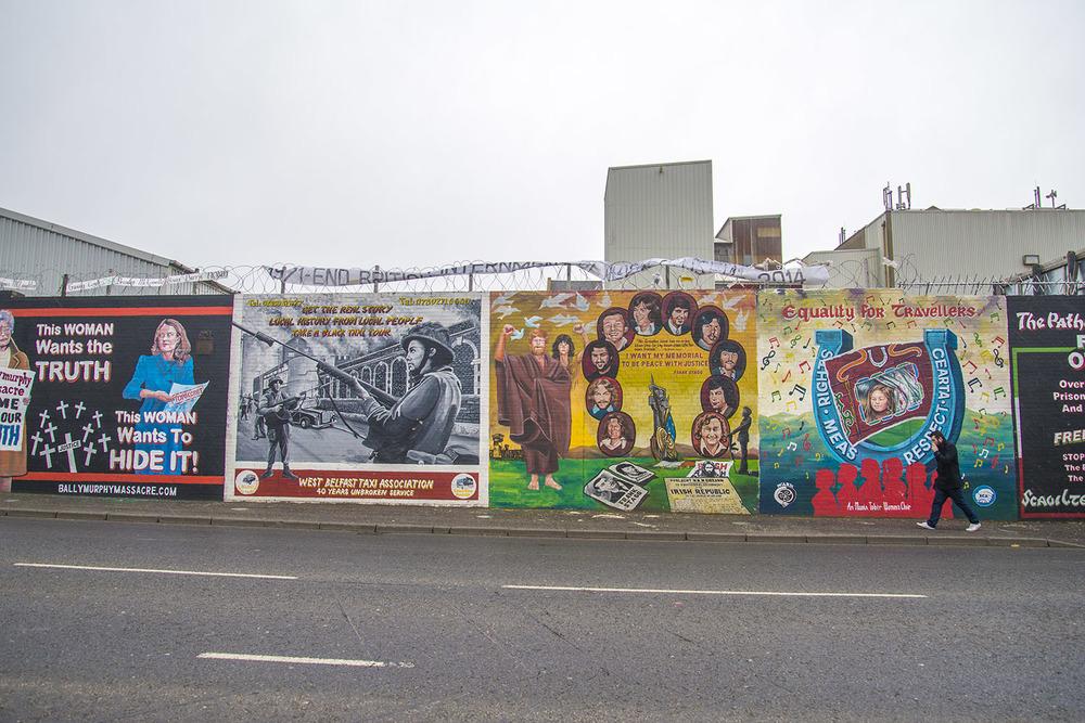 Peace Wall, Belfast, Northern Ireland