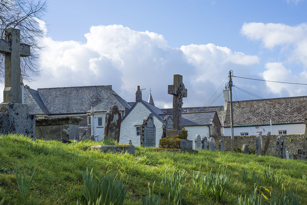 Cemetery at Parish Church of St Michael the Archangel, Chagford, Devon, UK