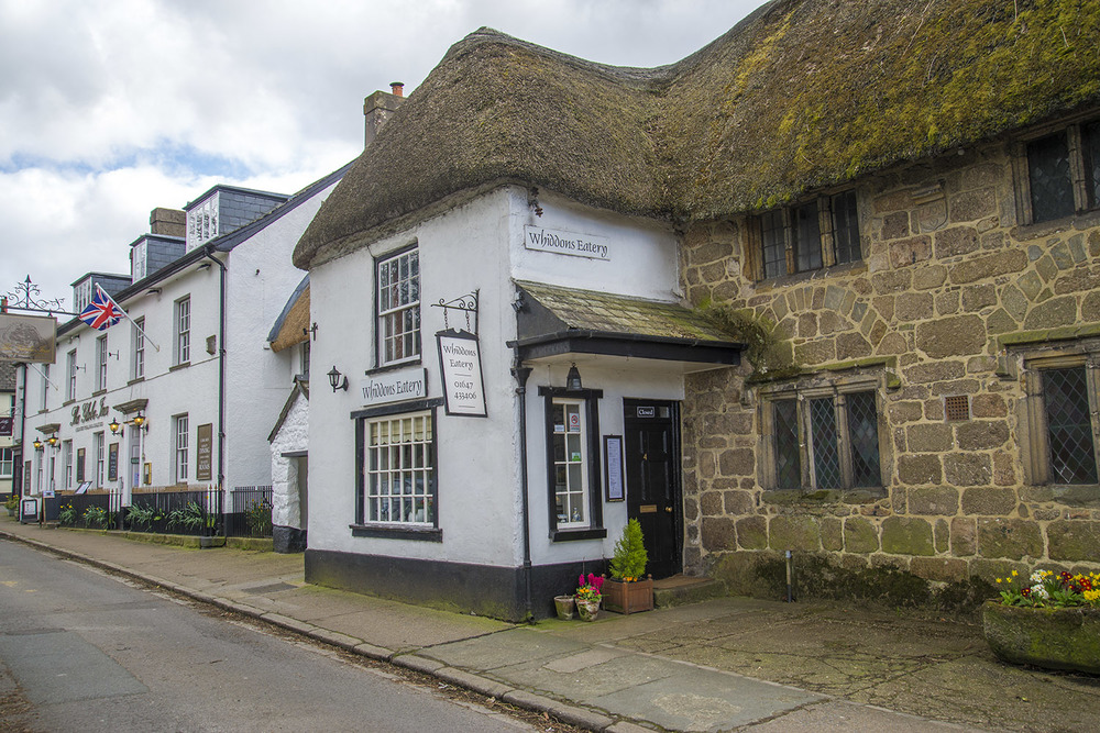 Whiddons Eatery and the Three Crowns Hotel, 13th Century, Chagford, Devon, UK