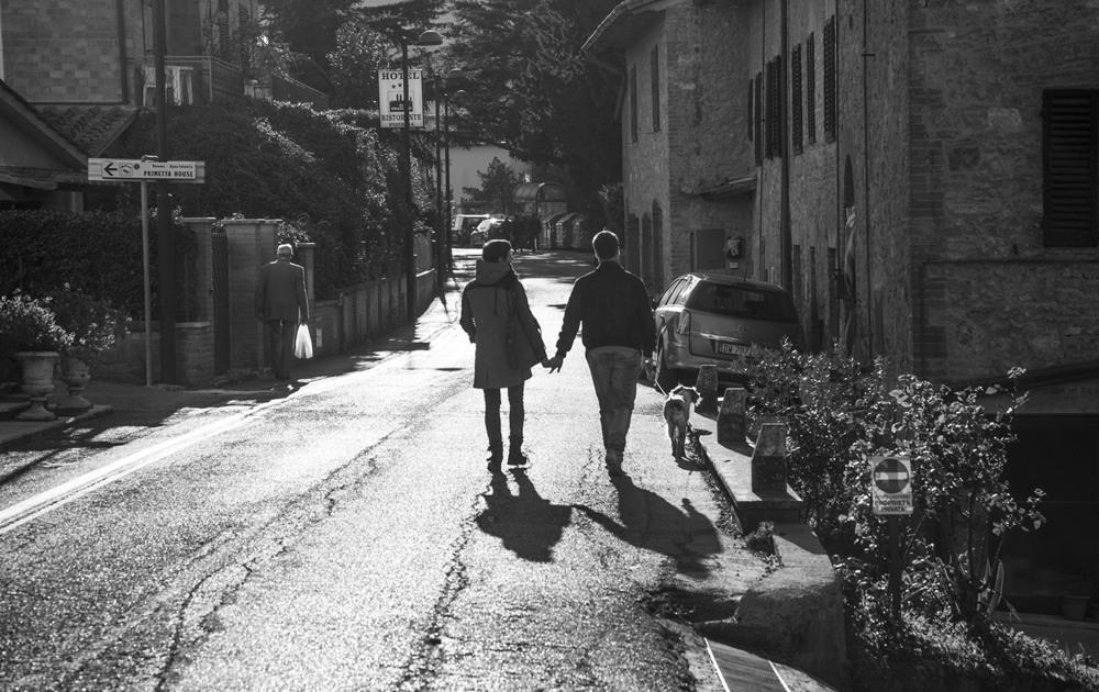 Andrea and his amazing girlfriend Chiara and their dog Olga, outside of San Gimignano, Tuscany