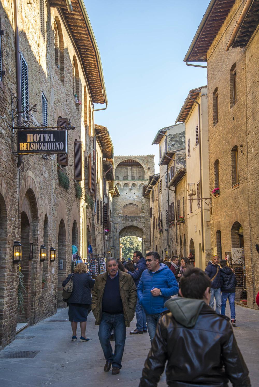 Entry into the village of San Gimignano, Tuscany