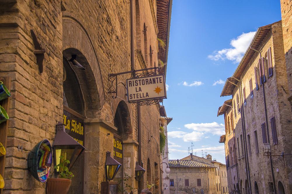 Ristorante La Stella, San Gimignano, Tuscany
