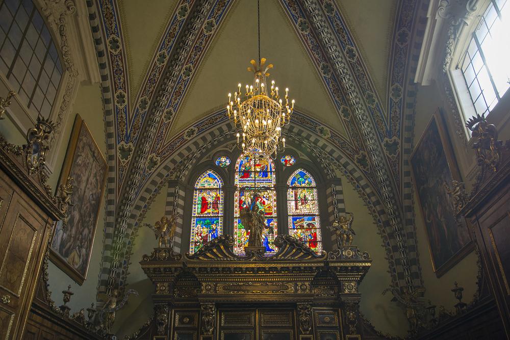 Interior of Basilica Santa Maria Novella, 1360, Firenze, Tuscany