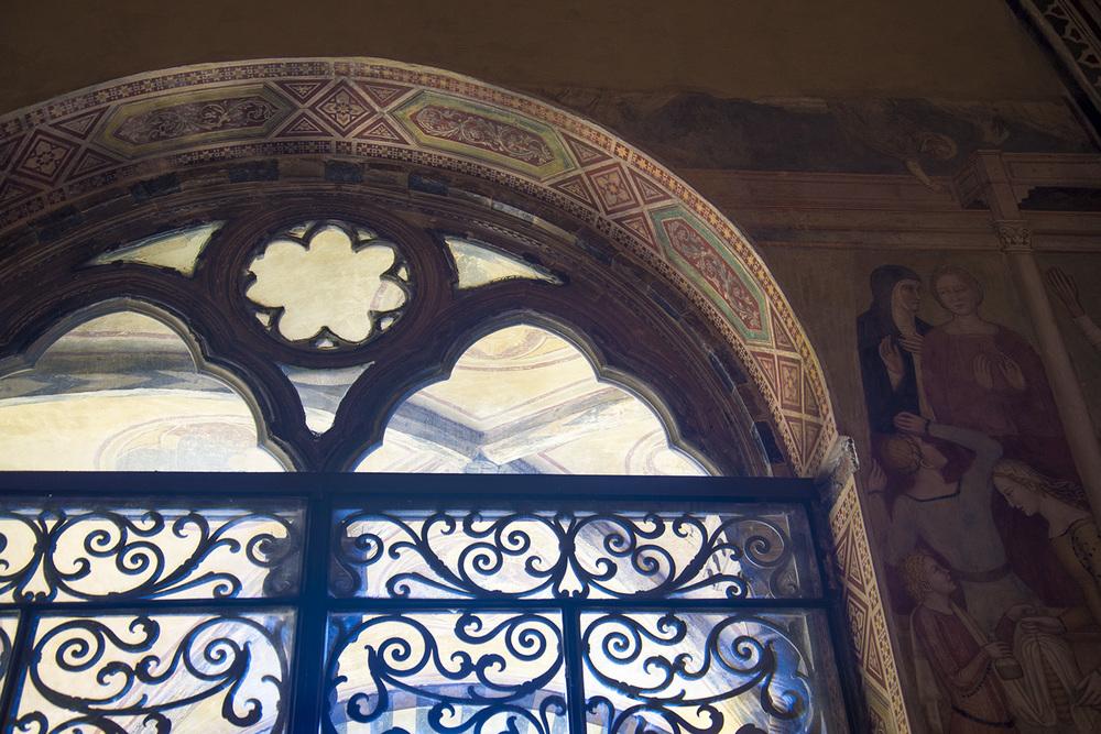 Window detail of Basilica Santa Maria Novella, 1360, Firenze, Tuscany