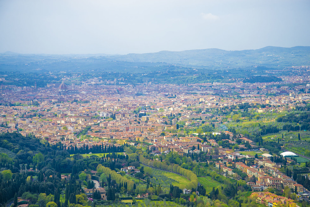 View of Firenze from Fiesole, Tuscany