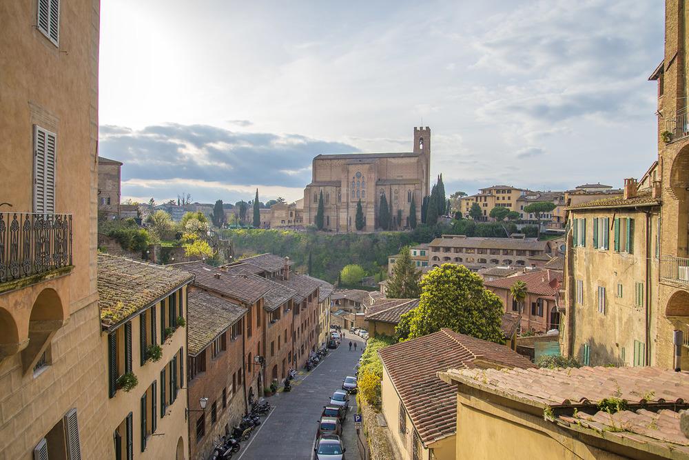 View of Basilica Cateriniana, 1265, Siena, Tuscany