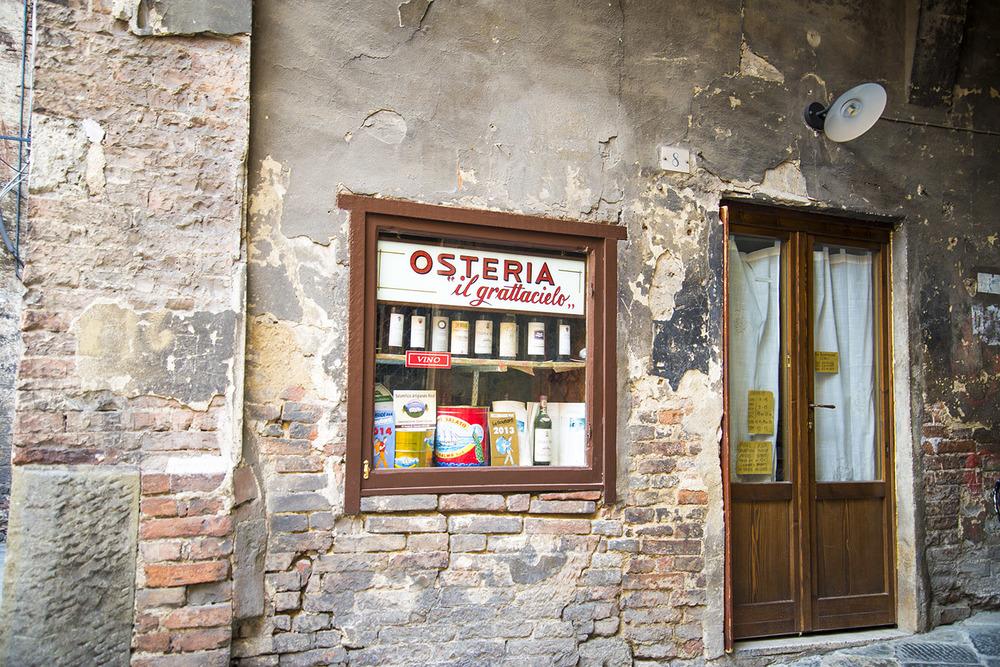 Osteria entrance, Siena, Tuscany