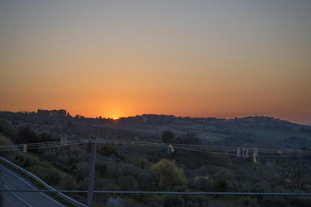 Sunset over Gambassi, Tuscany