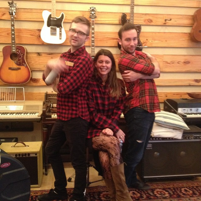 Plaid day at Better Problems. #funfriday #plaid #lumberjacks