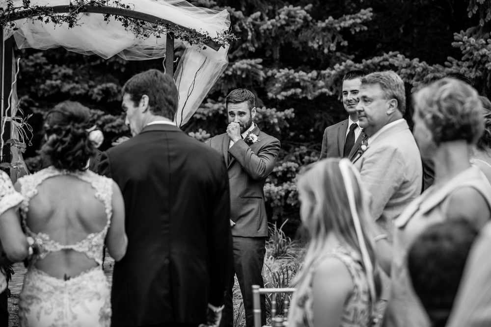 One of the many great moments on a wedding day. Photo by Tony