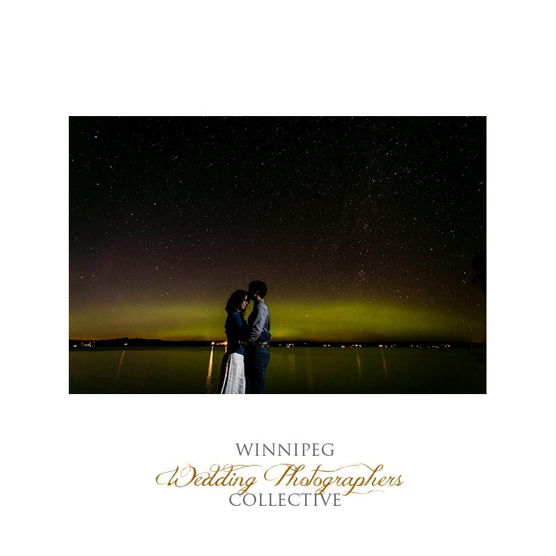 Northern Lights engagement photos Manitoba