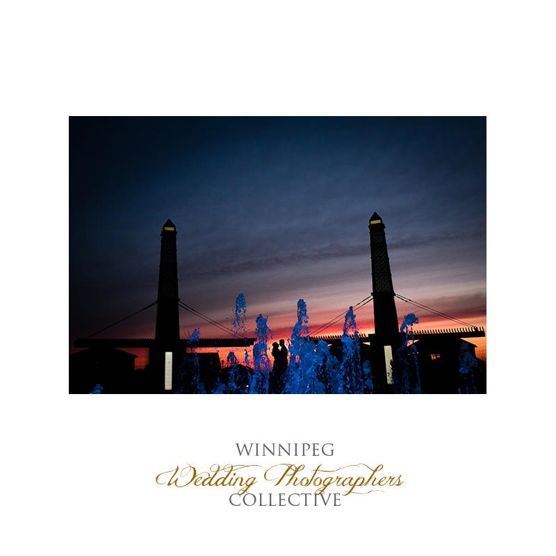 creative silhouette engagement photos Winnipeg