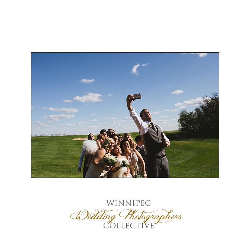 Wedding party photos at Bridges Golf Course